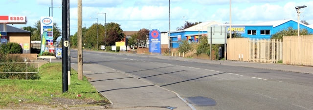 b07 fuel stations and warehouses, Ruth walking through Avonmouth