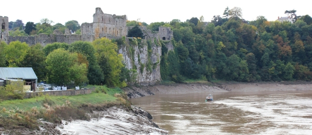 b12 Chepstow Castle, Ruth on the Old Wye Bridge