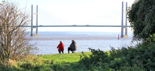 b12 Second Severn Crossing, Ruth walking the coast in Wales