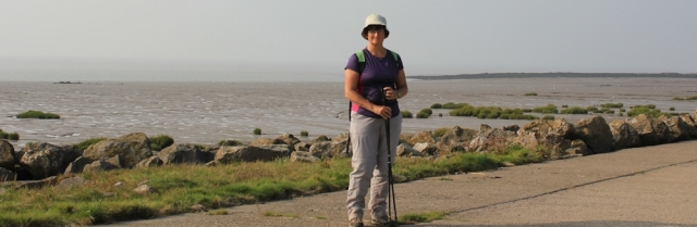 b19 self portrait, Ruth in front of Blackstone Rocks, Clevedon