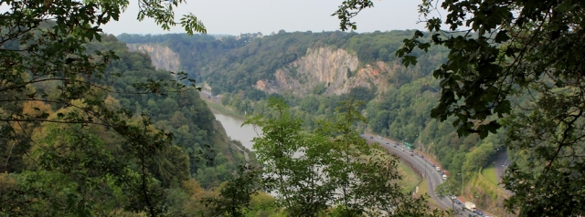 c05 view down into Avon Gorge, Ruth in Leigh Woods