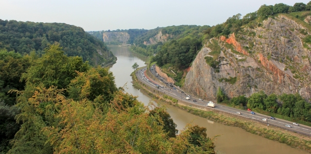 c11 view from Clifton Suspension Bridge, Ruth Livingstone in Bristol