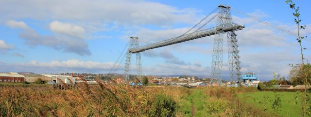 transporter bridge, Ruth walking the Wales Coast Path, Newport