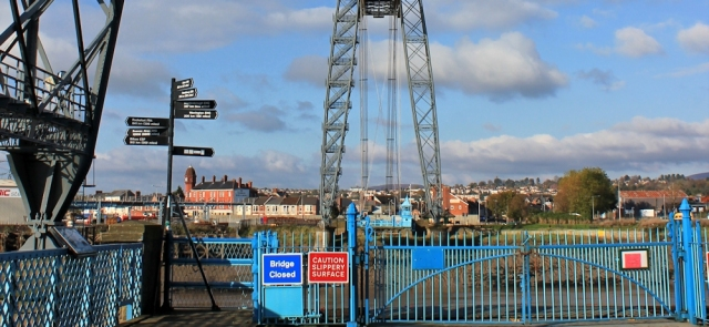 transporter bridge closed, Newport, Ruth walking the coast in Wales