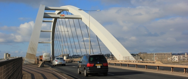 new A48 bridge, Newport, Ruth's coastal walking