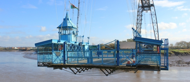Transporter Bridge platform, Ruth in Newport, walking the coast