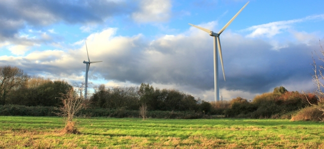 wind turbines, Ruth Livingstone on the Wales Coast Path