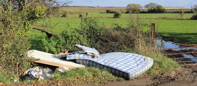 dumped mattresses, Newport, Ruth's coast walking