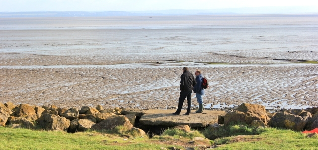 looking over River Severn to Somerset, Ruth's coastal walk