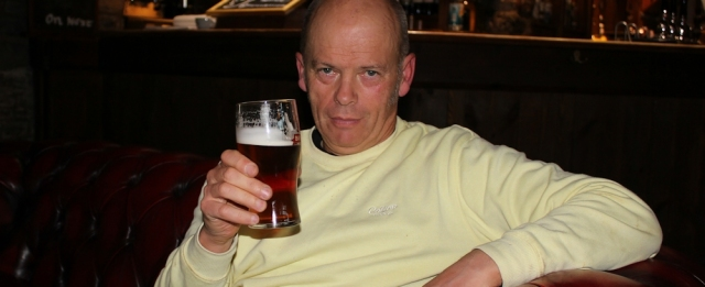 hubby with a pint, Peterstone Wentlooge
