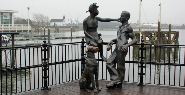 05 People Like Us - bronze, Ruth in Cardiff Bay