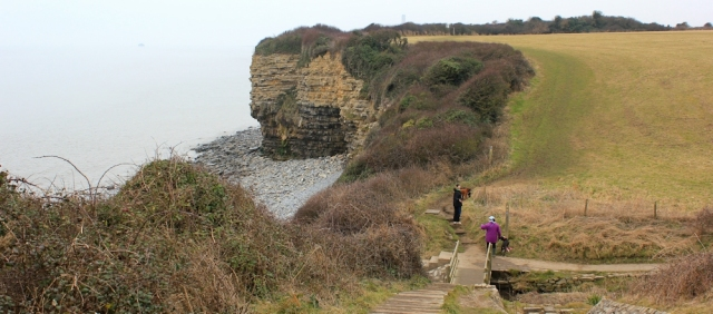 15 Wales Coast Path near Font-y-gary, Ruth's coastal walk