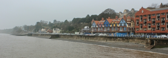 b04 Penarth sea front, Ruth on the Wales Coast Path