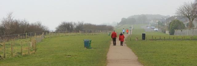 b05 Walking along Penarth path, Ruth Livingstone