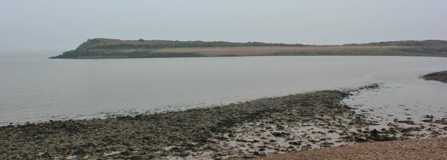 b14 Sully Island, Ruth on the Wales Coast Path