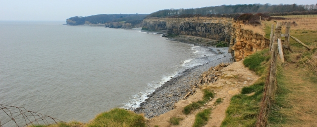 Wales coast path disappears off cliff, Ruth Livingstone