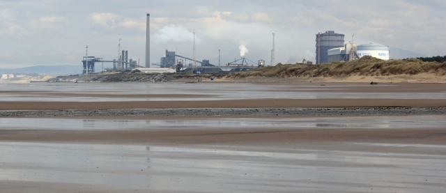 09 Port Talbot steel works, across Kenfig Sands, Ruth Livingstone