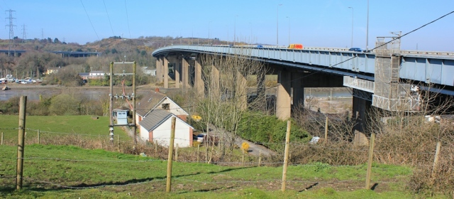 11 A48 bridge, pedestrian way over River Neath, Wales Coast Path