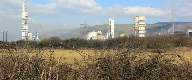 17 industrial zone, Ruth walking through Port Talbot