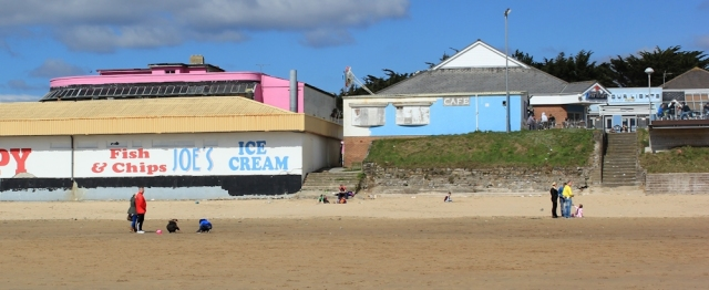 Joe's ice cream, Porthcawl, Ruth on the Wales Coast Path