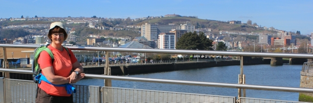 21 Ruth on bridge at Swansea Marina
