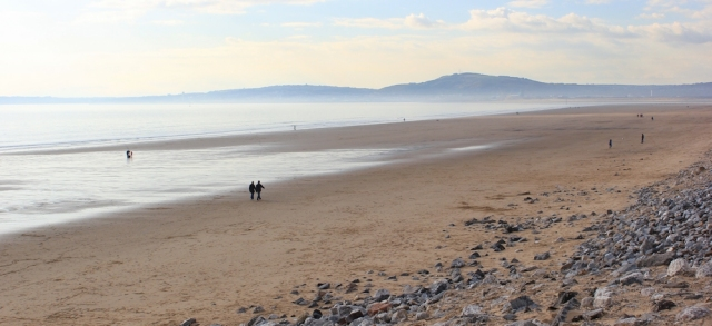 27 Swansea from Port Talbot beach, Ruth Livingstone hiking in Wales