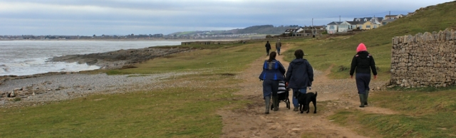 approaching Ogmore-by-Sea, Wales