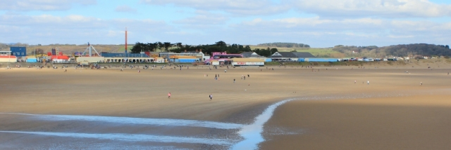 a01 Porthcawl, Ruth on her coastal walk, Wales