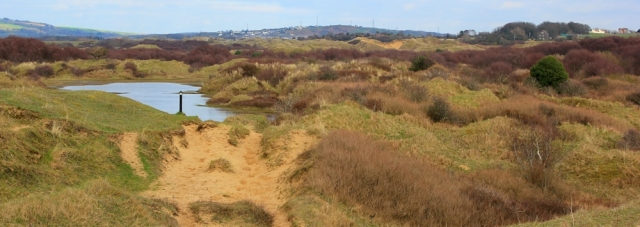 a11 bridleway through Kenfig Dunes, Ruth in Wales