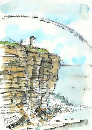 Nash Point lighthouse, Ruth Livingstone