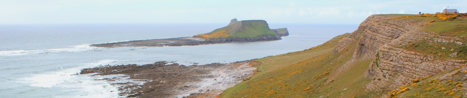 header, Worms Head from Rhossili, Ruth Livingstone