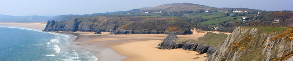 Three Cliffs Bay, Ruth Livingstone on the Gower