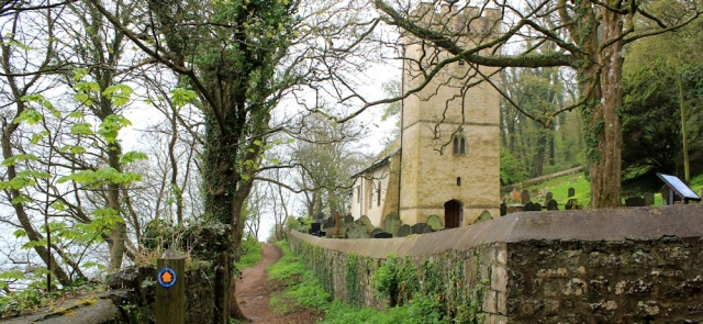 Oxwich Church, Ruth Livingstone walking the Wales Coast Path