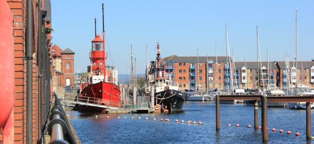 lighthouse ship in Swansea Marina, Ruth Livingstone