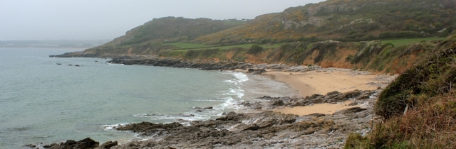 The Sands, Ruth walking towards Port Eynon, Wales Coast Path, Gower