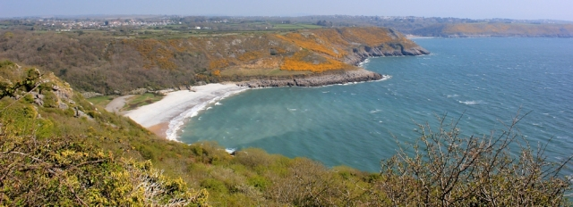 Pwlldhu Head, Ruth Livingstone hiking the coastline in Gower