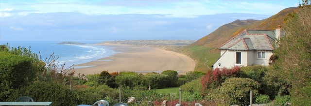 23 Rhossili beach from cafe, Ruth Livingstone, Gower