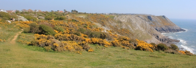 Ruth Livingstone on her coastal walk, leaving West Cliff behind
