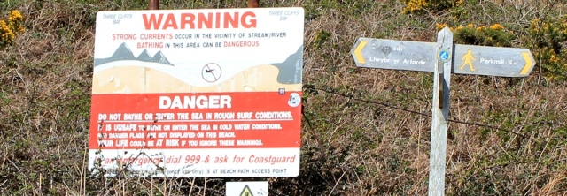 Danger signs, Pennard Burrows, Ruth Livingstone