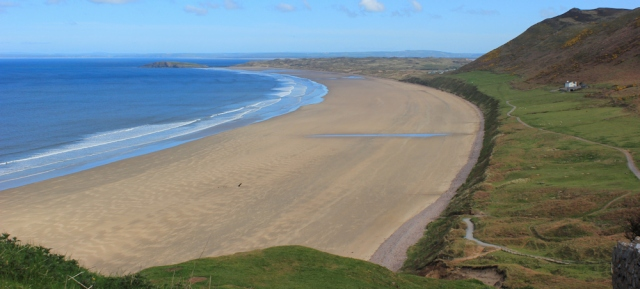 Rhossili beach, Ruth Livingstone's coastal walk, Wales