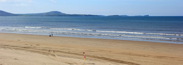 02 view to Rhossili and Worms Head, Ruth Livingstone in Pembrey