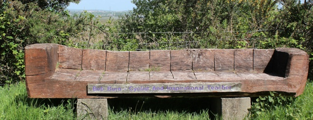 Bob Burns bench, Wales Coast Path, Ruth Livingstone