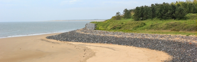 14 sand, walking towards Burry Port, Ruth in Wales