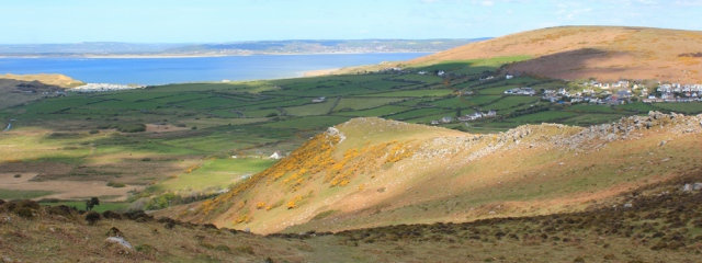 15 view down from Rhossili Down, Whiteford Sands and Llangennith, Ruth in Gower