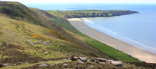 16 Rhossili Down, looking towards Rhossili, Ruth Livingstone