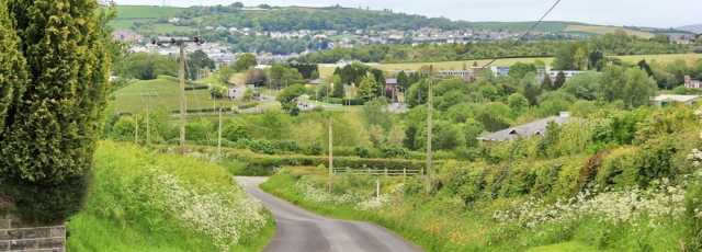 18 down towards the A484, Ruth on Wales Coast Path, Carmarthen