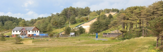 a14 dry ski slope, Pembrey Country Park, Ruth hiking in Wales