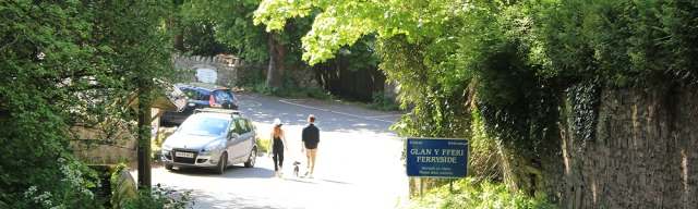 a16 hill into Ferryside, Ruth Livingstone in Wales
