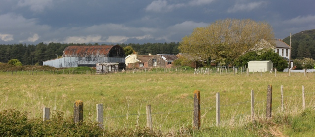 a22 and farm houses, Ruth hiking into Pembrey