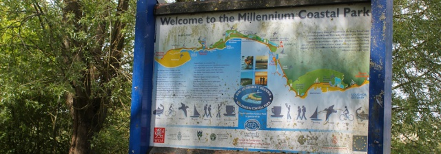 b02 Millenium Coastal Park, Ruth Livingstone walking the coast, Llanelli